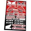 Planche Autocollants moto stickers géant Honda cr crf