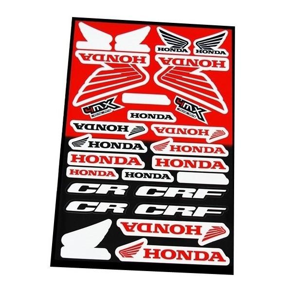 autocollants moto stickers honda cr crf. Black Bedroom Furniture Sets. Home Design Ideas