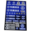Planche Autocollants moto stickers géant Yamaha yz yzf