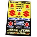 Planche Autocollants moto stickers géant Suzuki rm rmz rm-z
