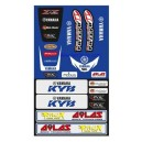 Universal Fender decal kit front and rear for Yamaha