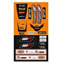 Universal Fender decal kit front and rear for Kawasaki