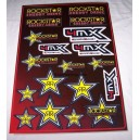 Planche Autocollants moto stickers géant Rockstar Energy drink