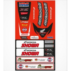 Universal Fender decal kit front and rear for Honda